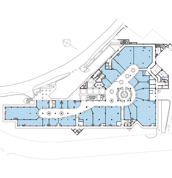Commercial level floor plan