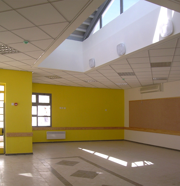 Yellow classroom after completion